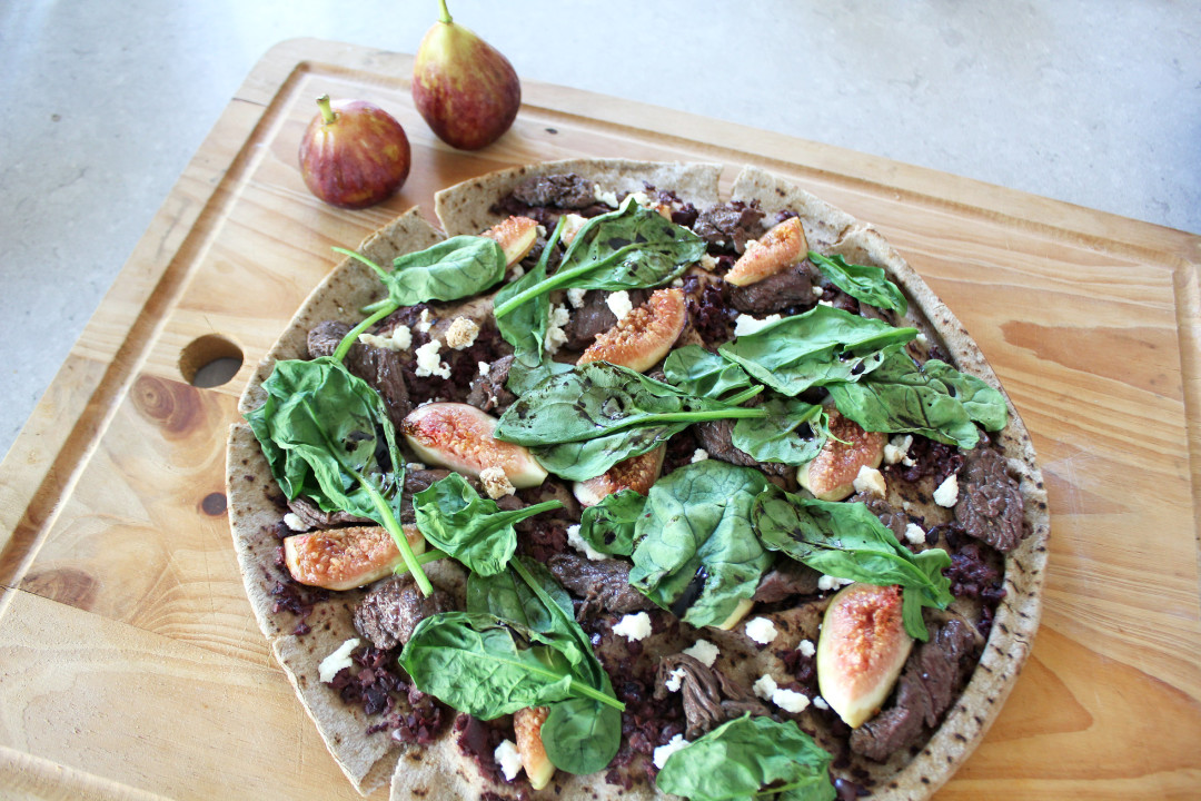 Clean Eating Kangaroo, Fig & Ricotta Pizza