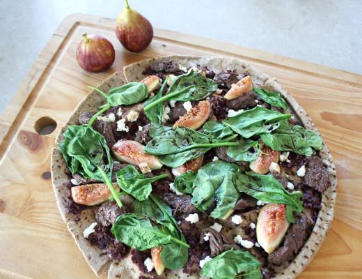 Clean Eating Kangaroo, Fig & Ricotta Pizza