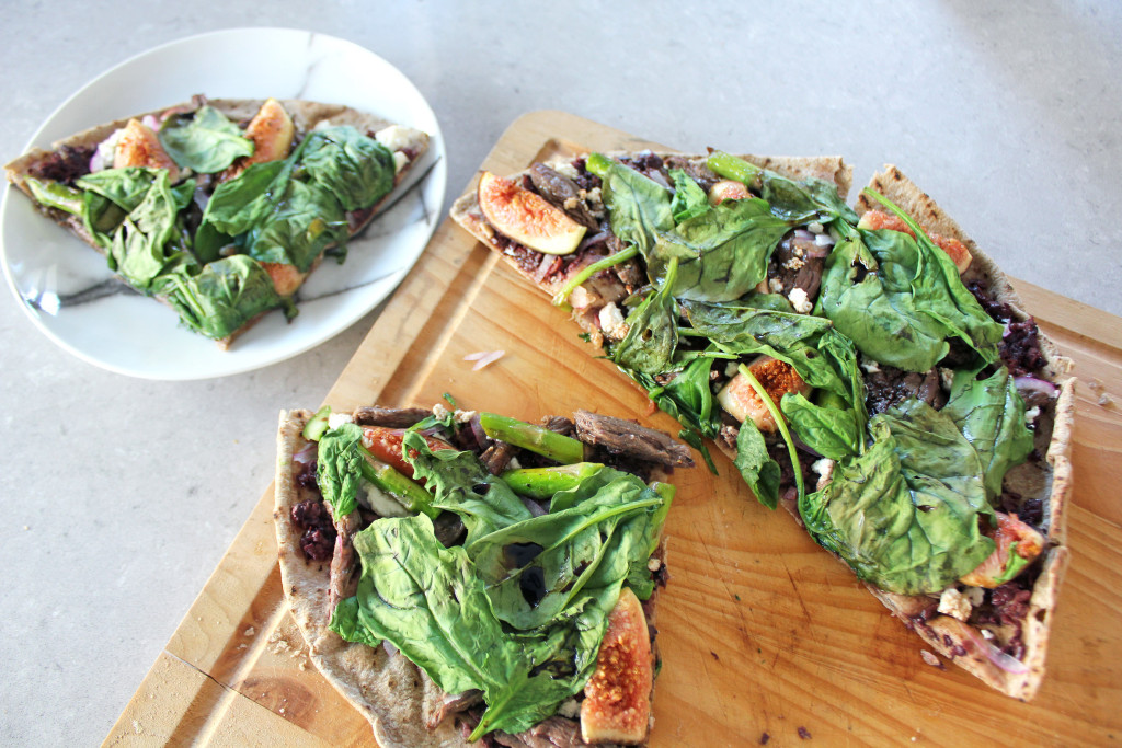 Healthy Gourmet Pizza - Kangaroo, fig & ricotta