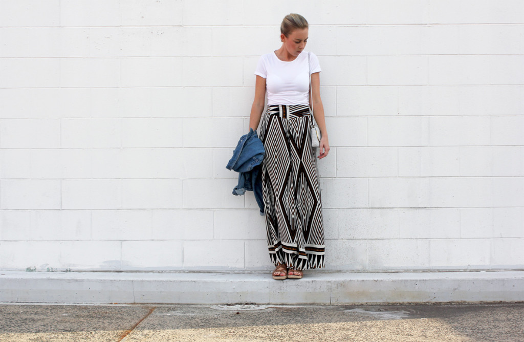 Palazzo Pant and Denim Jacket
