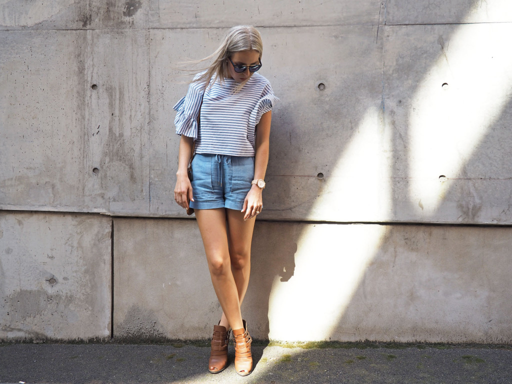 Flared sleeve blogger style